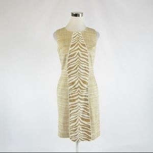 Nine West khaki white zebra sheath dress 4